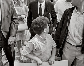 RFK ~ McCARTHY PROTESTERS, The Man The People Found, Portland, Oregon May 1968, Clyde Keller Photo