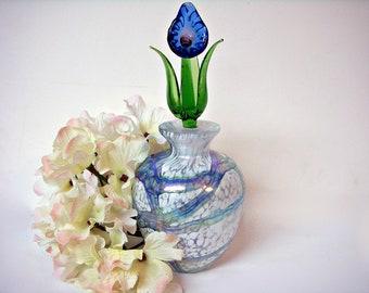 ART GLASS PERFUME Bottle Murano Style Blown Glass