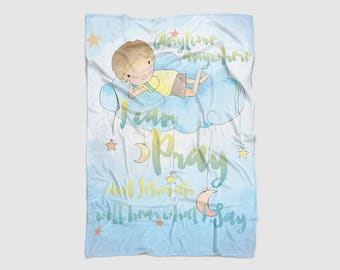To pray spanish etsy jw blanket i can pray personalized with name jw baby gift best life ever jw blanket happiertogive jw pioneer gifts negle Choice Image