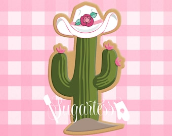 Cowgirl / Cowboy Cactus with Hat