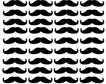 Mustache Balloon or Party Decals