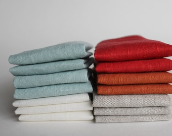 Linen Facecloth Set Any Color 8x8 washcloth set natural linen face wash