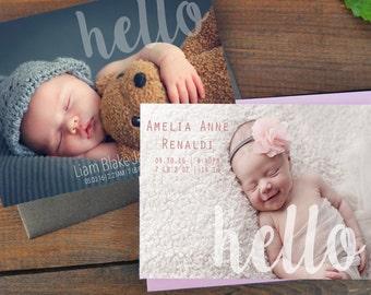 Newborn Birth Announcement Card