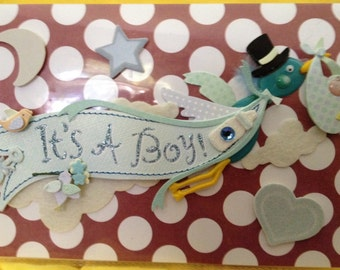 Beautifully Decorated Photo Album Cover - It's A Boy!