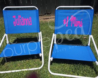 Monogrammed Beach Chair