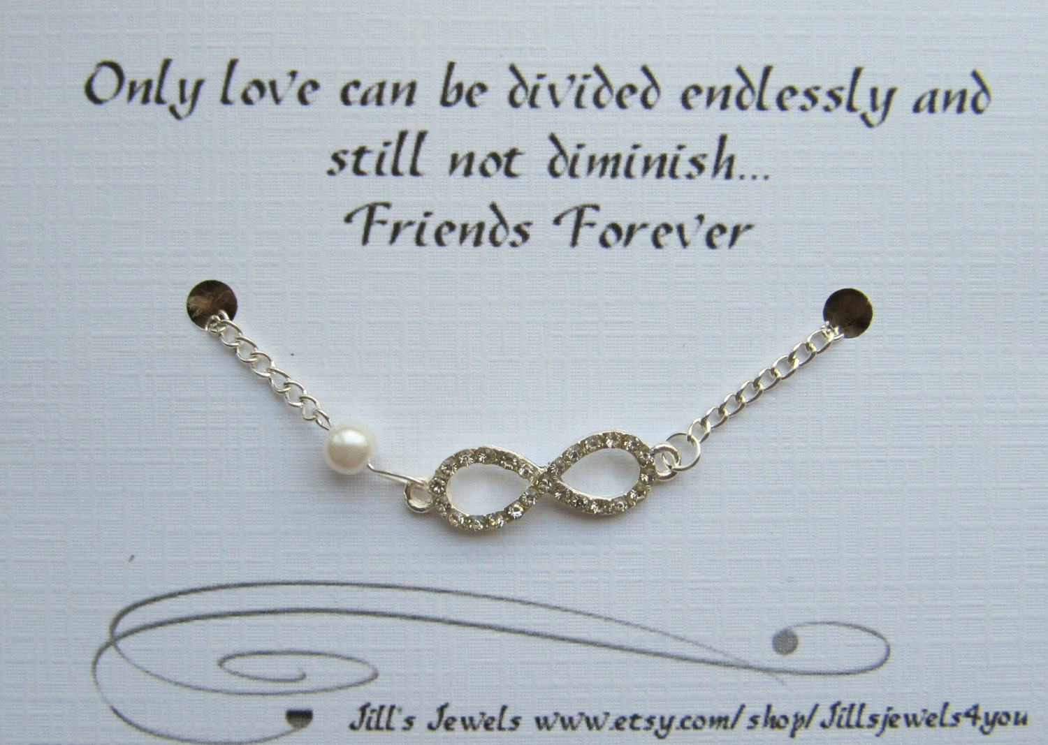 Infinity Love Quotes Friendship Bracelet Inspirational Gift Best Friend Gift
