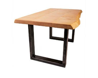 Waney/live/natural edge sycamore dining table / desk