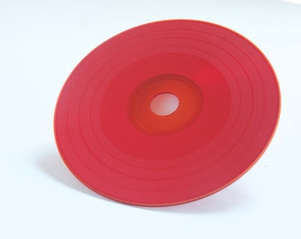 Red Vinyl Style Blank CD - Retro Record Album Music and File delivery