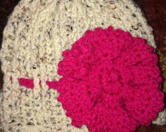 Ribbed flower hat