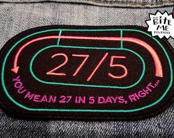 27 in 5, Roller Derby Laps, Iron On Patch