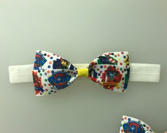 Paw Patrol bow  Headband diff options for headband