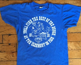 1991 Clermont County Fair kids t shirt USA 14-16