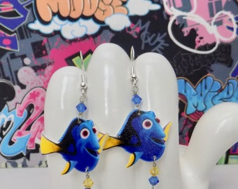 Finding Dory the Blue Tang Dangle Earrings