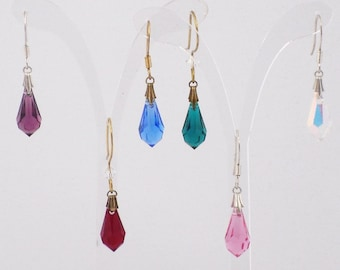 Droplets Earrings with Swarovski Crystal
