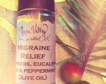 Migraine Relief Roll-On in 1/3 oz. glass bottle