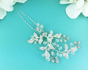 Swarovski Crystal rhinestone wedding hair pin, Crystal Hairpin, rhinestone hairpin, bridal hair stick, Karlee Swarovski Hair Pin