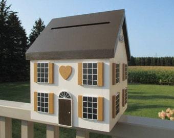 Wedding Gift Card Box, Wedding Card Holder, Wedding Card Box, Wedding Card House, Wedding Money Box, Baby / Bridal Shower Gift Card Holder
