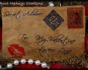 Aunt Mannys Primitive Valentine Love Letter Ornies Pattern