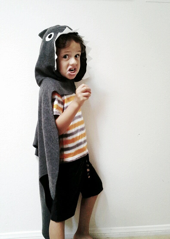 sc 1 st  Etsy & Shark Cape Halloween Costume or Dress Up Cape for all ages