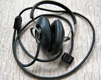 Vintage military headphones Radio headphones Radio headset Telegraph headphones Morse code headset Ham radio headset Radio station headphone