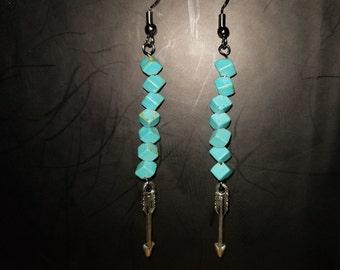 Boho Turquoise Dangle Earrings