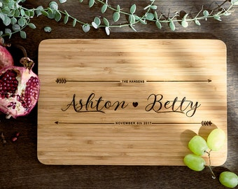 Personalized Cutting Board Personalized Custom Cutting Board Wedding Gift Cutting Board Engraved Cutting Board Anniversary Cutting Board #21