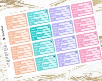 Flight Tracker planner stickers