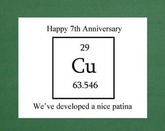 Happy 7th Anniversary, 7th Wedding Anniversary, 7th Anniversary Gift, 7th Anniversary Gifts for Men, Copper Anniversary, Copper Gift Idea