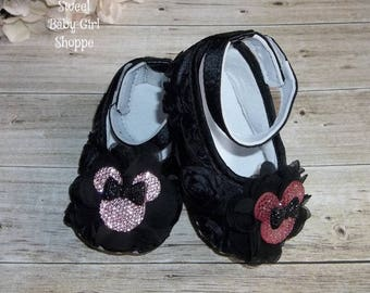 Minnie Mouse 1st Birthday Outfit, Minnie Mouse Birthday Outfit, Minnie Mouse First Birthday Outfit, Pink and Black Minnie Mouse Outfit