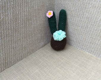 Amigurumi Crocheted CactI with Flowers