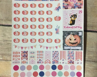 October Date Stickers