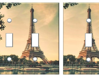 Eiffel Tower light switch plate // Paris France decor // SAME DAY SHIPPING **