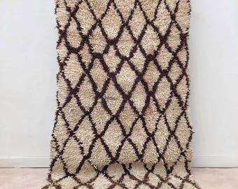 "Moroccan Boucherouite rug,""N81"",  Vintage rag rug, Berber rug, Moroccan decor, Beni rug, Beni ourain"