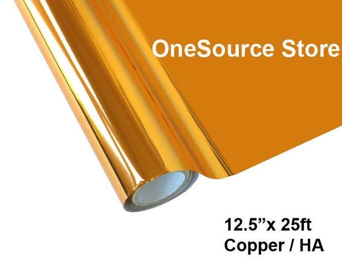 """HTV Textile Foil* / 12.5 """"x 25 ft / Copper / HA"""