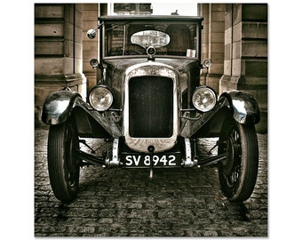 "Old Car Photography, Vintage Car, Austin, Car Print, Touring Car, Classic Car Photography, Fine Art Photography, ""Classic Austin - Sepia"""
