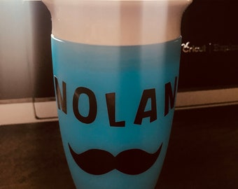 Personalized Mustache Sippy Cup