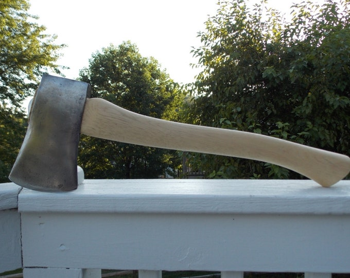 Vintage Single  Bit axe on a new 19 inch handle