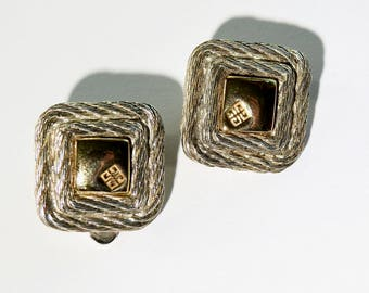 Vintage Givenchy Gold and Silver Plated Earrings
