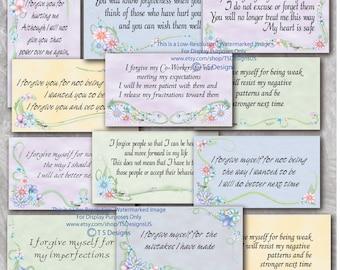 Forgiveness Affirmation Cards- Floral Design
