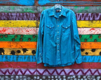 90s made in usa wrangler button down