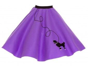 Adult Purple 50's POODLE SKIRT