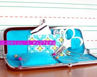 Instant Download, PDF Tutorial, Sewing Kit Clasp Purse, DIY Travel Kit, Sewing Pattern