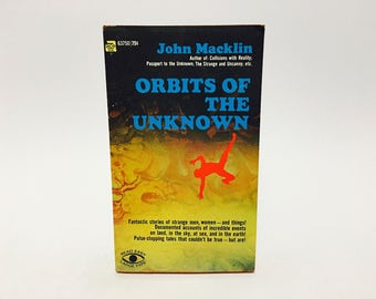 Vintage Occult Book Orbits of the Unknown by John Macklin 1969 Paperback