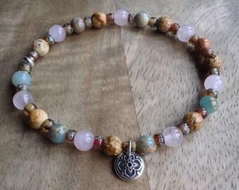 Multi gemstone bracelet bohemian bracelet boho chic bracelet beaded bracelet womens jewelry boho chic jewelry boho bracelet