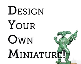 1 x 28mm Scale Custom Miniature and 10 Castings