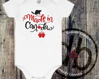 Made In Canada Bodysuit - Toddler Canada Day T-shirt - Family Canada Day Shirts - Mens and Ladies Made in Canada Shirts - Canada Day Tee