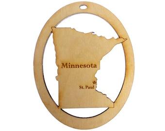 Minnesota Ornament - Minnesota State Ornament - Minnesota Gift - Minnesota Ornaments -Minnesota Decor -Minnesota Souvenir -Personalized Free
