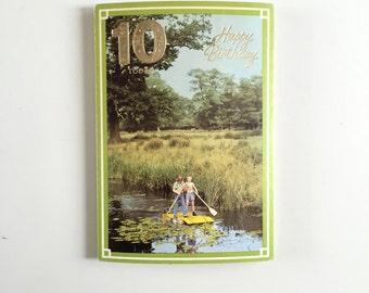Vintage 1970s BIRTHDAY Card Magic Moments Greeting Card 10 Year Old Birthday Card Unused Vintage Card