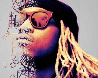 Future Limited Artwork, Future Gift, Future Art, Future Print, Hip Hop Poster, Hip Hop, Future Wall Art, Future Fan Present