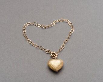 Gold filled heart bracelet FREE UK P&P